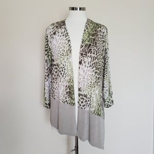Chico's Travelers Size 2 Open Front Cardigan Large